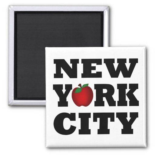New York City (Apple grande) Imanes Para Frigoríficos