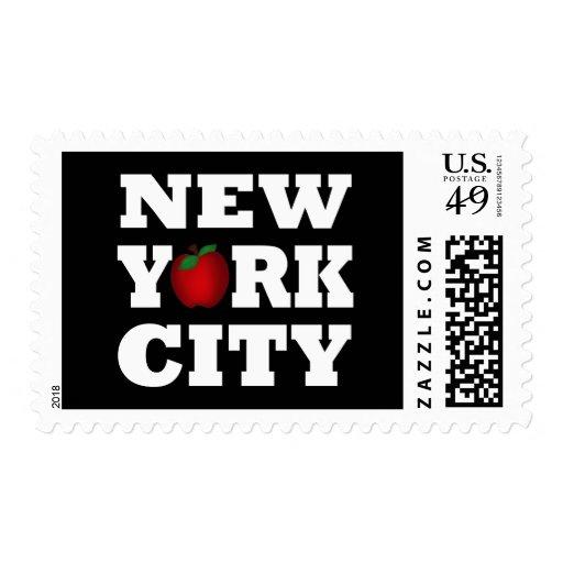 New York City (Apple grande) Sello Postal