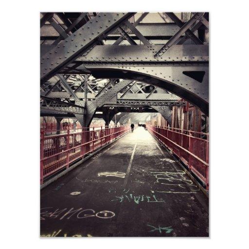 New York City Architecture - Williamsburg Bridge Photographic Print