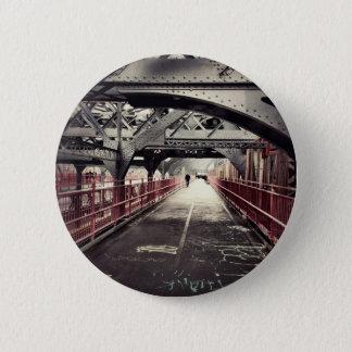 New York City Architecture - Williamsburg Bridge Pinback Button