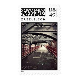 New York City Architecture - Williamsburg Bridge Postage