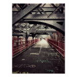 New York City Architecture - Williamsburg Bridge Poster