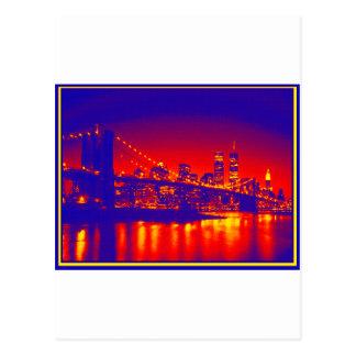 NEW YORK CITY ART STYLE POSTCARD