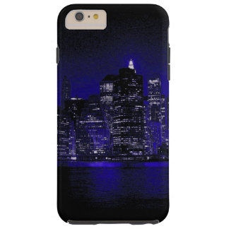 New York City At Blue Night Tough iPhone 6 Plus Case