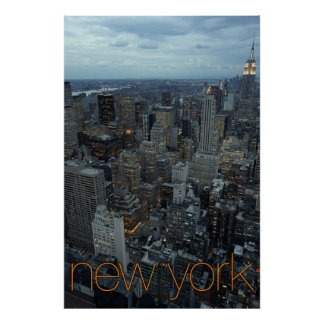 new york city at dusk poster