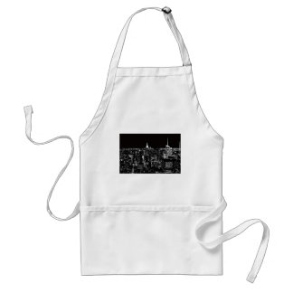 New York City At Night Adult Apron