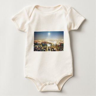 New York city At night Baby Bodysuit