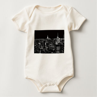 New York City At Night Baby Bodysuit