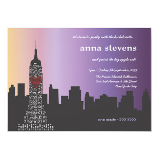 New York City at Night Bachelorette Party Card