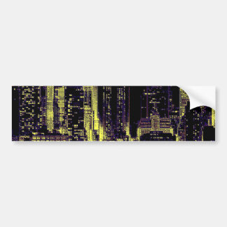 New York City at Night Bumper Sticker