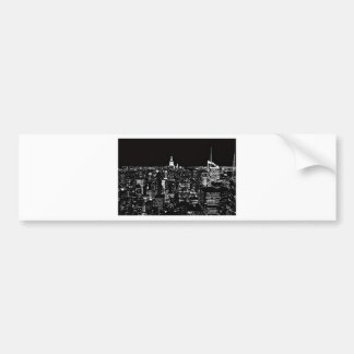 New York City At Night Car Bumper Sticker