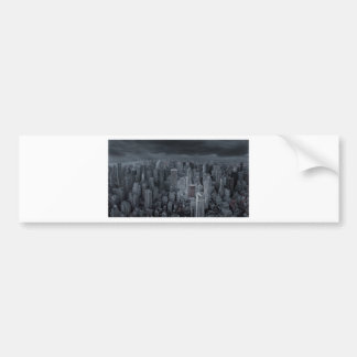 New York City at Night Car Bumper Sticker