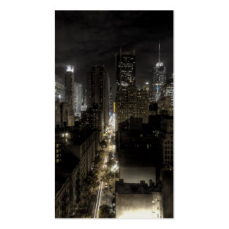 New York City at Night HDR Business Cards
