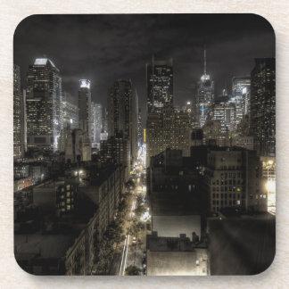 New York City at Night HDR Beverage Coaster
