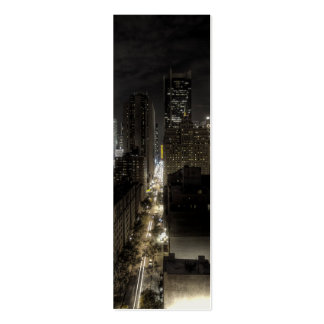 New York City at Night HDR Mini Business Card