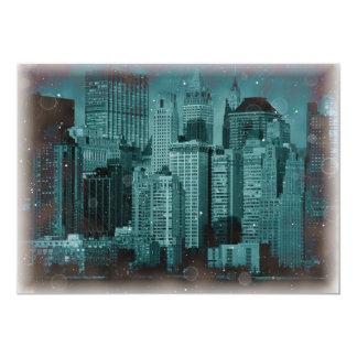 "New York City at Night Invitation 5"" X 7"" Invitation Card"