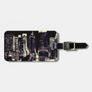 New York City at Night Tags For Bags