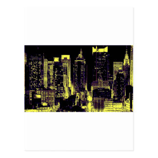 New York City at Night Postcard