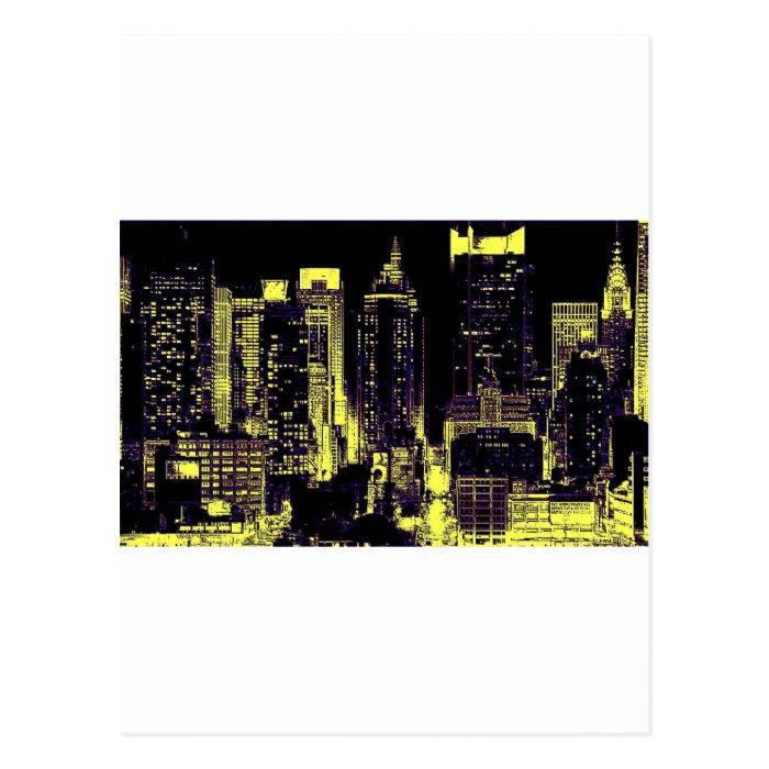 New York City at Night Postcard