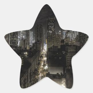 New York City at Night Star Sticker