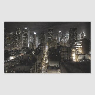 New York City at Night Rectangle Sticker