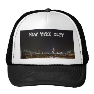New York City at night Trucker Hat