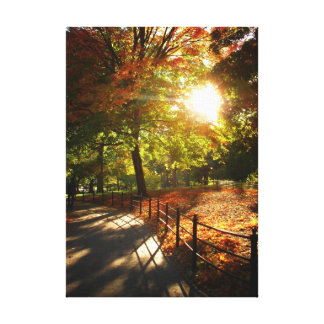 New York City Autumn Sun Gallery Wrapped Canvas