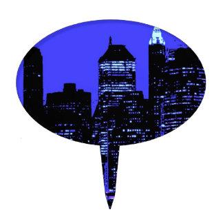 New York City azul Decoraciones De Tartas