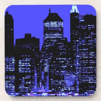 New York City azul Posavasos De Bebidas