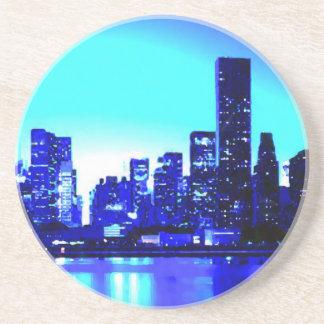 New York City azul Posavasos Para Bebidas