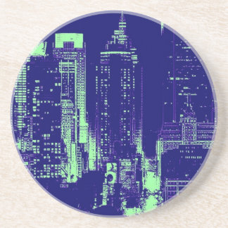 New York City azul Posavasos Personalizados