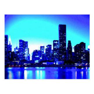 New York City azul Postales