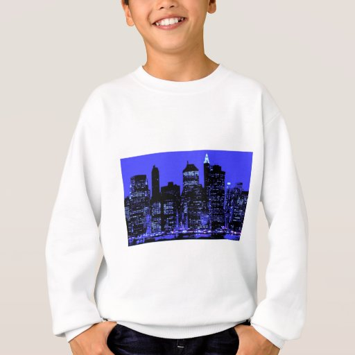 New York City azul Sudadera