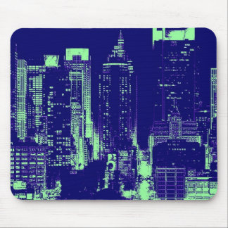 New York City azul Alfombrillas De Raton