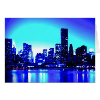 New York City azul Tarjeta