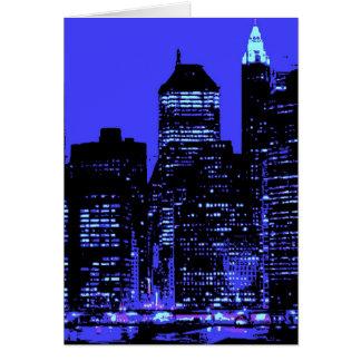 New York City azul Felicitacion