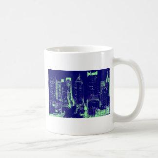 New York City azul Tazas