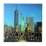 New York City Azulejo Cuadrado Pequeño