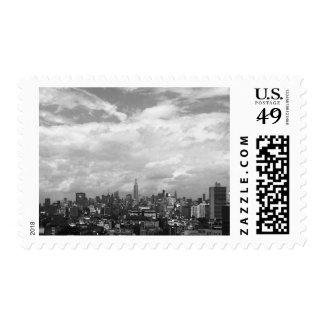 New York City B&W Postage Stamps