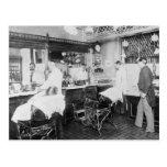 New York City Barber Shop, 1895 Postcards