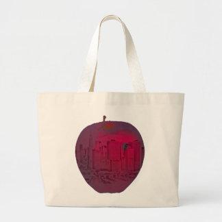 New York City big apple blend image Large Tote Bag