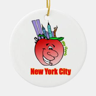 New York City Big Apple Ceramic Ornament