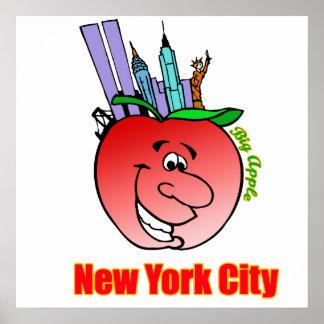 New York City Big Apple Print
