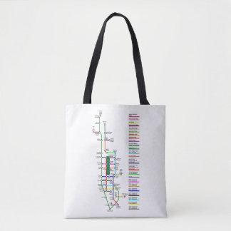 New York City Bike Map Tote Bag