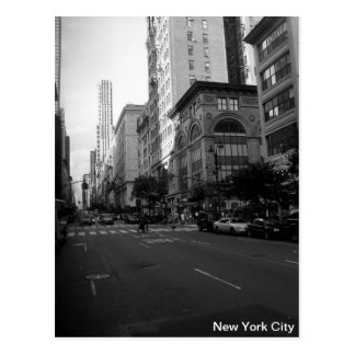 New York City Black and White Postcard
