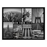 new york city black and white poster