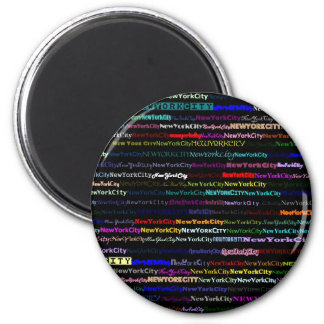 New York City Black Background Magnet
