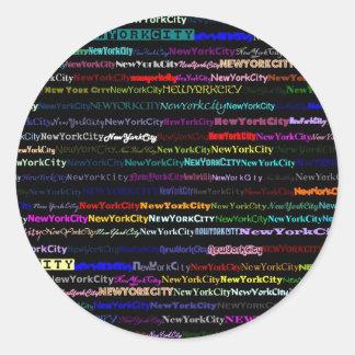 New York City Black Background Sticker