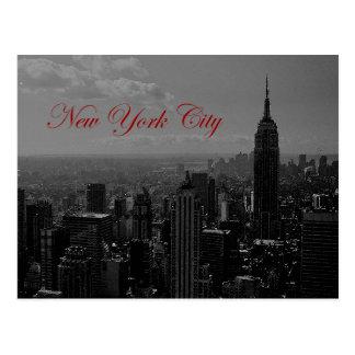 New York City blanco negro Tarjetas Postales