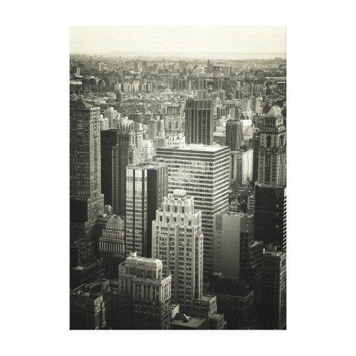 New York City blanco y negro Impresión De Lienzo